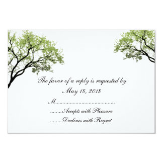 Spring Trees RSVP Cards Personalized Invitations