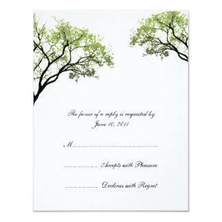 Spring Trees Wedding Invitation RSVP