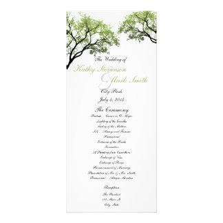 Spring Trees Wedding Program