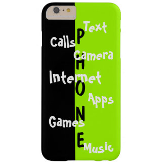 Spring Trendy iPhone Case Lime Colorblock Fun 31 Barely There iPhone 6 Plus Case