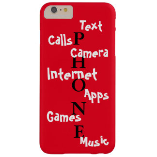 Spring Trendy iPhone Case Red Colorblock Fun Barely There iPhone 6 Plus Case