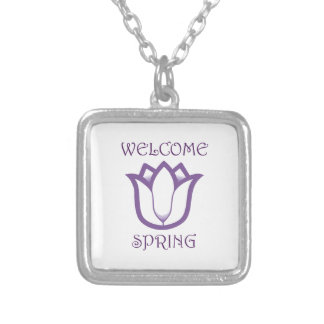 SPRING TULIP APPLIQUEDo you know someone who love Square Pendant Necklace