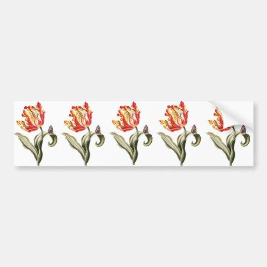 Spring Tulip Floral Bumper Sticker