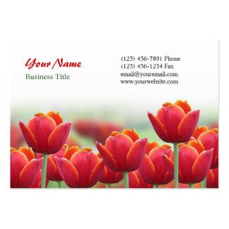 Spring Tulip Flower Business Card