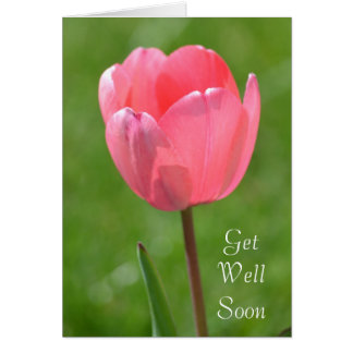 Spring Tulip Flower Get Well Card