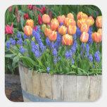 Spring tulip garden print sticker