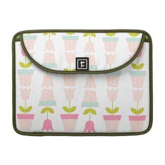 Spring Tulip Mac Book Sleeve rickshawflapsleeve