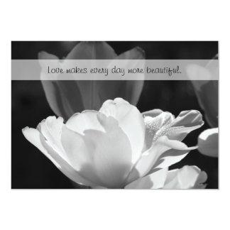 "Spring Tulip Vow Renewal Invitation 5"" X 7"" Invitation Card"