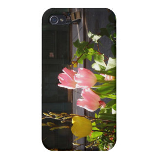Spring Tulips Against A Street in Soho iPhone 4 Case