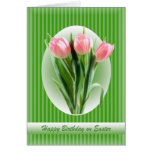 Spring Tulips - Birthday on Easter Cards