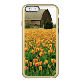 Spring tulips bloom in front of old barn. incipio feather® shine iPhone 6 case