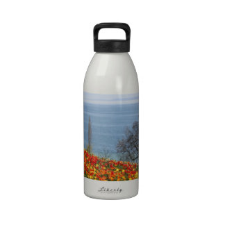 Spring Tulips by the Sea Reusable Water Bottle