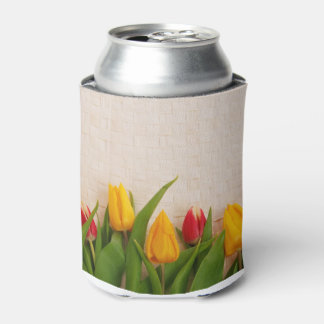 Spring Tulips Can Cooler