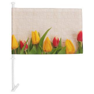 Spring Tulips Car Flag