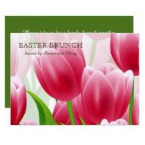 Spring Tulips Custom Easter Brunch Invitations