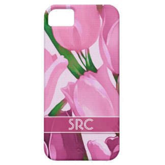 Spring Tulips. Custom Monogram iPhone 5 Case
