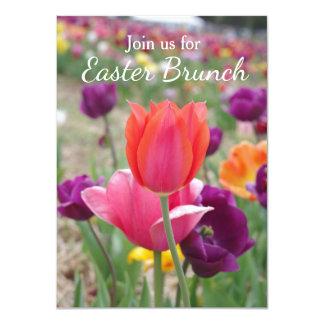 Spring Tulips Easter Brunch Card