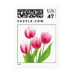 Spring Tulips. Easter Postage Stamp