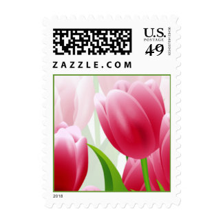 Spring Tulips. Easter Postage Stamp