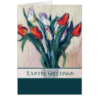 Spring Tulips. Fine Art Easter Customizable Cards