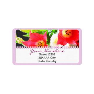 Spring Tulips Flower Label