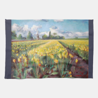 Spring Tulips Flowers Floral Impressionism Art Hand Towel
