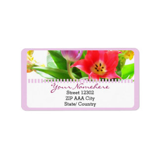 Spring Tulips Flowers Floral Label