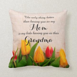 Spring Tulips for Grandma Pillow