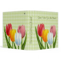 Spring Tulips Garden Binder binder