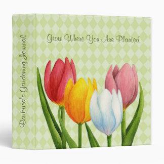 Spring Tulips Garden Binder