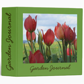 "Spring Tulips Garden Journal - Avery 2"" Binder"