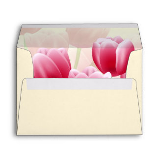 Spring Tulips. Happy Easter Envelopes