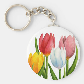 Spring Tulips Keychain