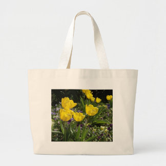 Spring Tulips Large Tote Bag
