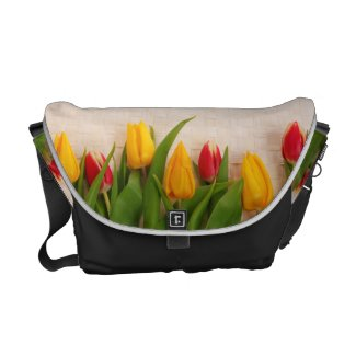Spring Tulips Messenger Bags