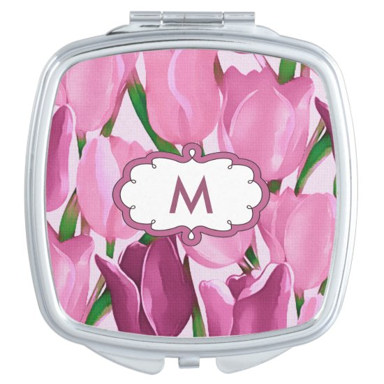 Spring Tulips Mother's Day Gift Compact Mirror