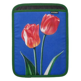 Spring Tulips Original Fine Art Flower Painting Sleeve For iPads