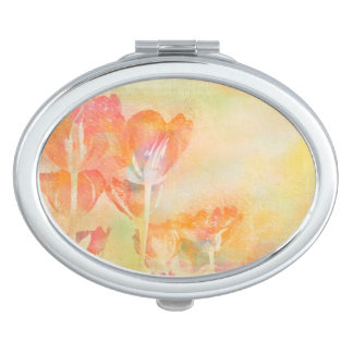 Spring Tulips Pastel Watercolor Mirror For Makeup