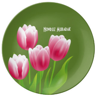 Spring Tulips Persian New Year Decorative Plates