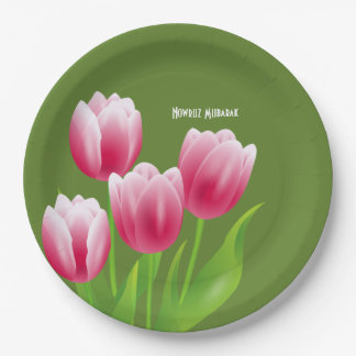 Spring Tulips Persian New Year Party Paper Plates