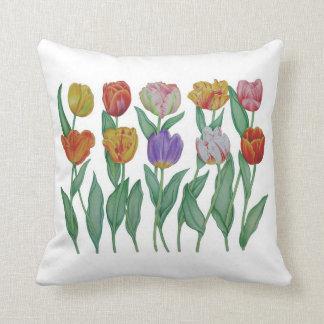 Spring Tulips Throw Pillows