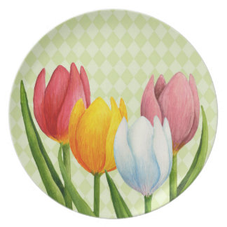 Spring Tulips Plate