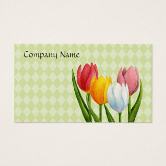 Spring Tulips Profile Card