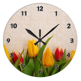 Spring Tulips Round Wallclock