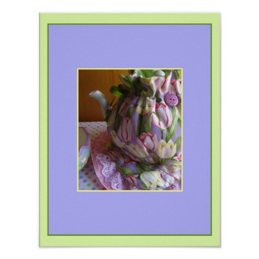 Spring Tulips Tea Cozy Poster