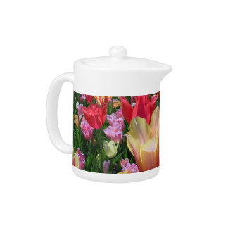 Spring Tulips Teapot