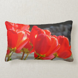 Spring Tulips Throw pillow Red Tulip Flowers