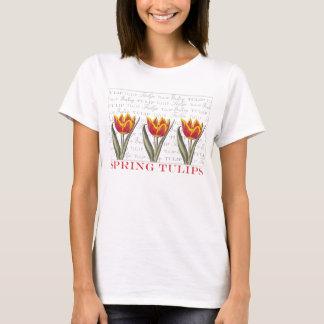 Spring Tulips Vintage Look Gardner's T-Shirt
