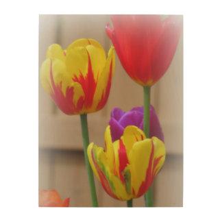 Spring Tulips Wood Wall Decor