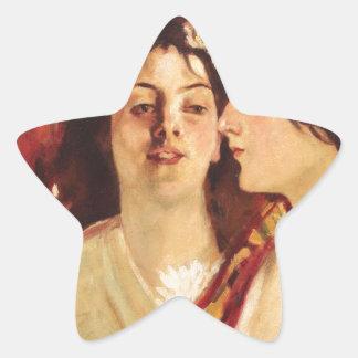 Spring (Two Muses) by Stefan Luchian Star Sticker